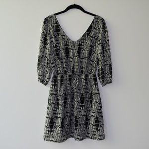 BeBop Black and White Print Sun Dress